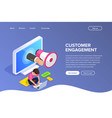 isometric flat customer engagement or advertising vector image