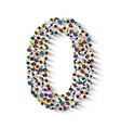large group of people in number 0 zero form vector image vector image