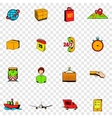 Logistics set icons vector image vector image