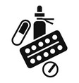 medicine drugs icon simple style vector image