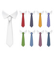 men ties fabric clothes items for male wardrobe vector image