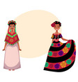mexican woman in traditional national dress vector image vector image