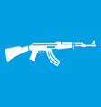 military rifle icon white vector image vector image