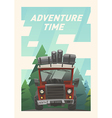 Off road full loaded adventure car vector image vector image