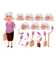 old woman senior person aged elderly vector image vector image