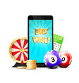 online lottery casino colorful composition vector image vector image