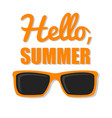 orange glasses with text vector image vector image