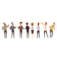people and online meeting icons set vector image vector image