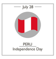 Peru Independence Day vector image vector image