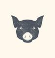pig vintage retro print poster banner black vector image vector image