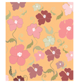 Poppy flowers pattern vector image vector image
