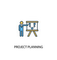 project planning concept 2 colored line icon vector image vector image