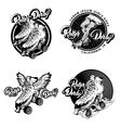 Roller Derby Monochrome Emblems vector image vector image