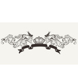 royal high ornate text banner vector image vector image