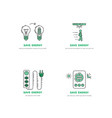 save energy home vector image vector image