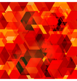 Seamless pattern of 3d cubes vector image