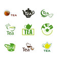 set logo tea vector image