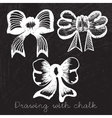 Set of bows drawn with chalk vector image vector image