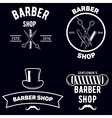 Set of vintage barber shop emblems label badges vector image vector image