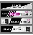 Set with Black friday sale banners vector image vector image