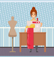 sewing clothes manufacturing hobtailor vector image