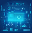 smart home modern absract light style concept vector image