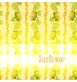 Sunflower border pattern background with light vector image