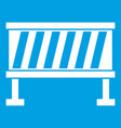 traffic barrier icon white vector image vector image