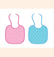 two baby aprons for boy and girl vector image vector image