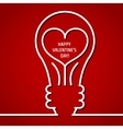 Valentine Outline 1 vector image vector image