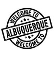 welcome to albuquerque black stamp vector image vector image