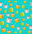 wrapped gifts seamless patterns vector image vector image