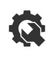 wrench gear black icon vector image vector image