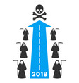 2018 scytheman future road flat icon vector image