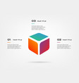 3d blocks infographics step by step element of vector image