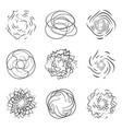 abstract boom and swirl effect set logo design vector image