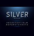 alphabet silver metallic and effect designs vector image vector image