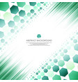 art of green molecules abstract background vector image