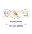 asperger syndrome concept icon vector image