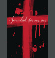 banner with bloody cross and inscription vector image