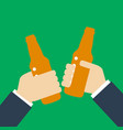 beer party icon silhouette two mans holding in vector image