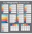 Big Set of Infographic Banner Templates for Your vector image vector image