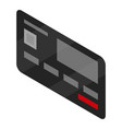 black bank credit card icon isometric style vector image
