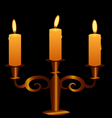 Bronze Candlestick With Lightening Candles vector image vector image