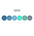 business infographics timeline with 6 steps vector image vector image