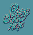 colorful decorative handwritten typography design vector image vector image