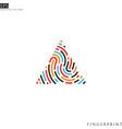 colorful fingerprint logo vector image vector image