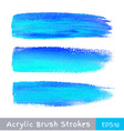 colorful watercolor brush strokes on canvas vector image