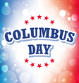 Columbus Day USA banner on celebration background vector image vector image