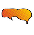comic bubble chat with halftone pattern vector image vector image